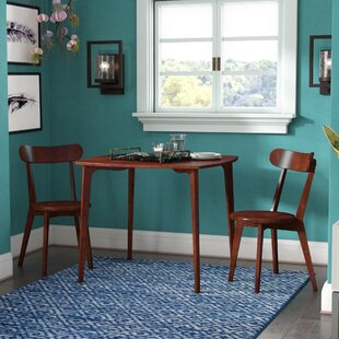 Avey 3 Piece Solid Wood Dining Set