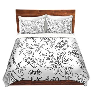 DiaNoche Designs Band With Flora Duvet Cover Set