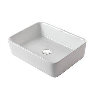 Beau Ceramic Rectangular Vessel Bathroom Sink