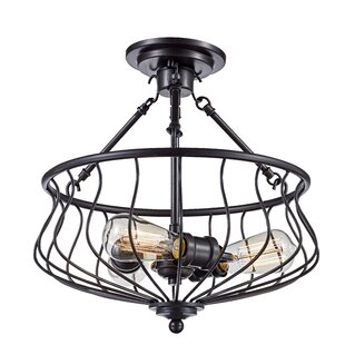 Sage 3-Light Semi Flush Mount by Laurel Foundry Modern Farmhouse