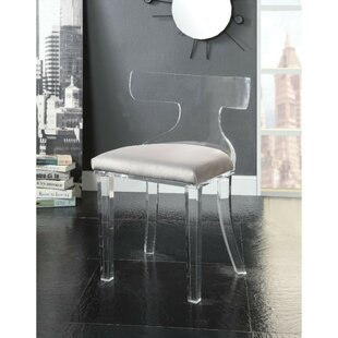 Janay Velvet Upholstered Acrylic Mid Backrest Side Chair
