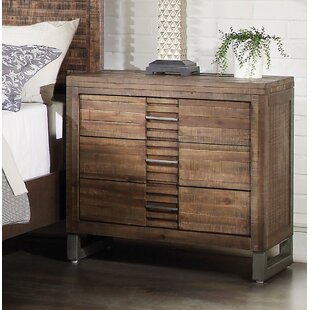 Foundry Select Alsup 3 Drawer Nightstand