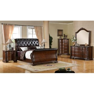 Leanne Upholstered Sleigh Configurable Bedroom Set