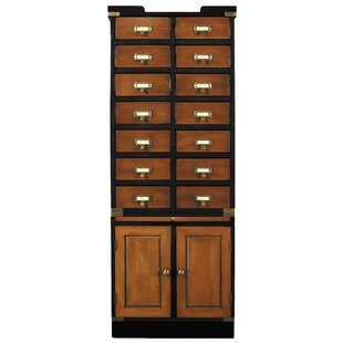 14 Drawer and 2 Door Accent Cabinet by Authentic Models