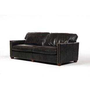 Deblois Leather Loveseat by 17 Stories New