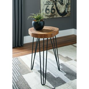 Media Wooden Top End Table