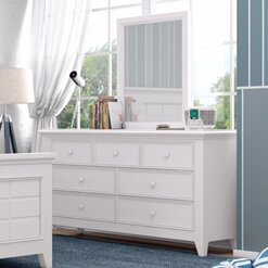 Reviews Poulan 7 Drawer Double Dresser with Mirror by Three Posts Reviews (2019) & Buyer's Guide