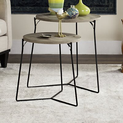 Brayden Studio Mae 2 Piece Nesting Tables