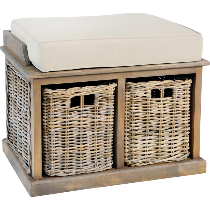 Incredible Belgrade Wicker Storage Bench Onthecornerstone Fun Painted Chair Ideas Images Onthecornerstoneorg