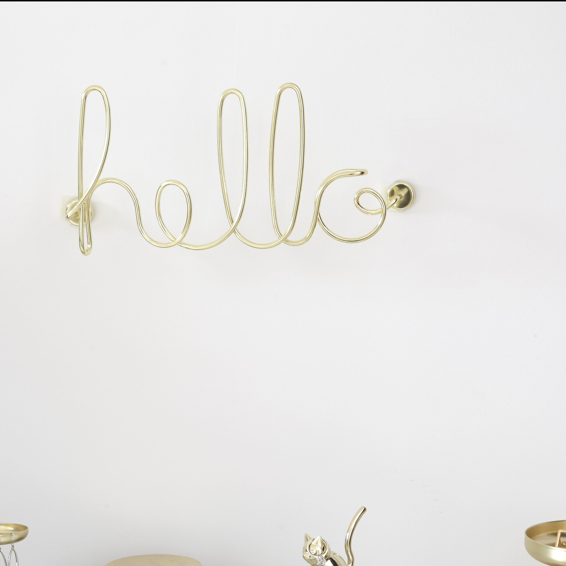 Umbra Wall Decor wired+words+hello+wall+decor