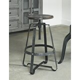 Shalanda Adjustable Height Swivel Bar Stool by 17 Stories
