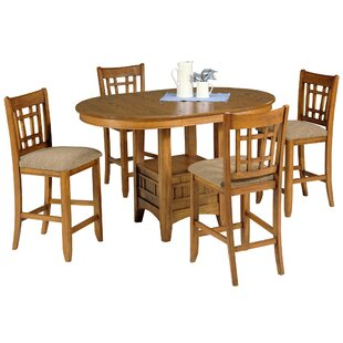 Quayle 5 Piece Pub Table Set by Loon Peak
