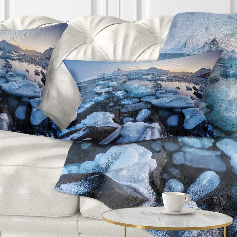 East Urban Home Seashore Unusual Arctic Ice Landscape Lumbar Pillow Wayfair