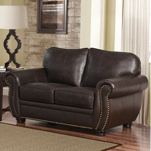 Hotchkiss Leather Loveseat by World Menagerie Today Only Sale