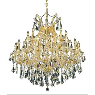 House of Hampton Regina Traditional 24-Light Royal Cut Chain Candle Style Chandelier