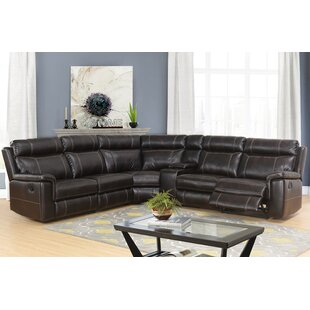 Winter Reclining Sectional with Console by Darby Home Co