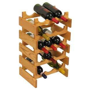 Dakota 15 Bottle Floor Wine Rack by Wooden Mallet