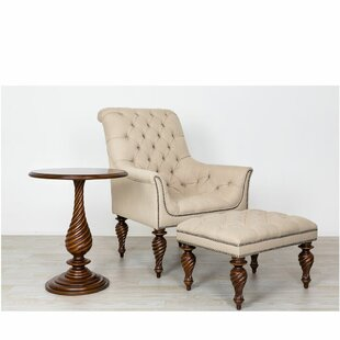 Tedeschi Upholstered Tufted 3 Piece Armchair Set