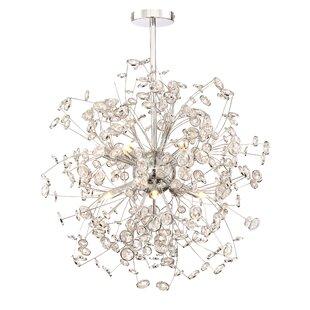 Everly Quinn Prasoon 12-Light Globe Chandelier
