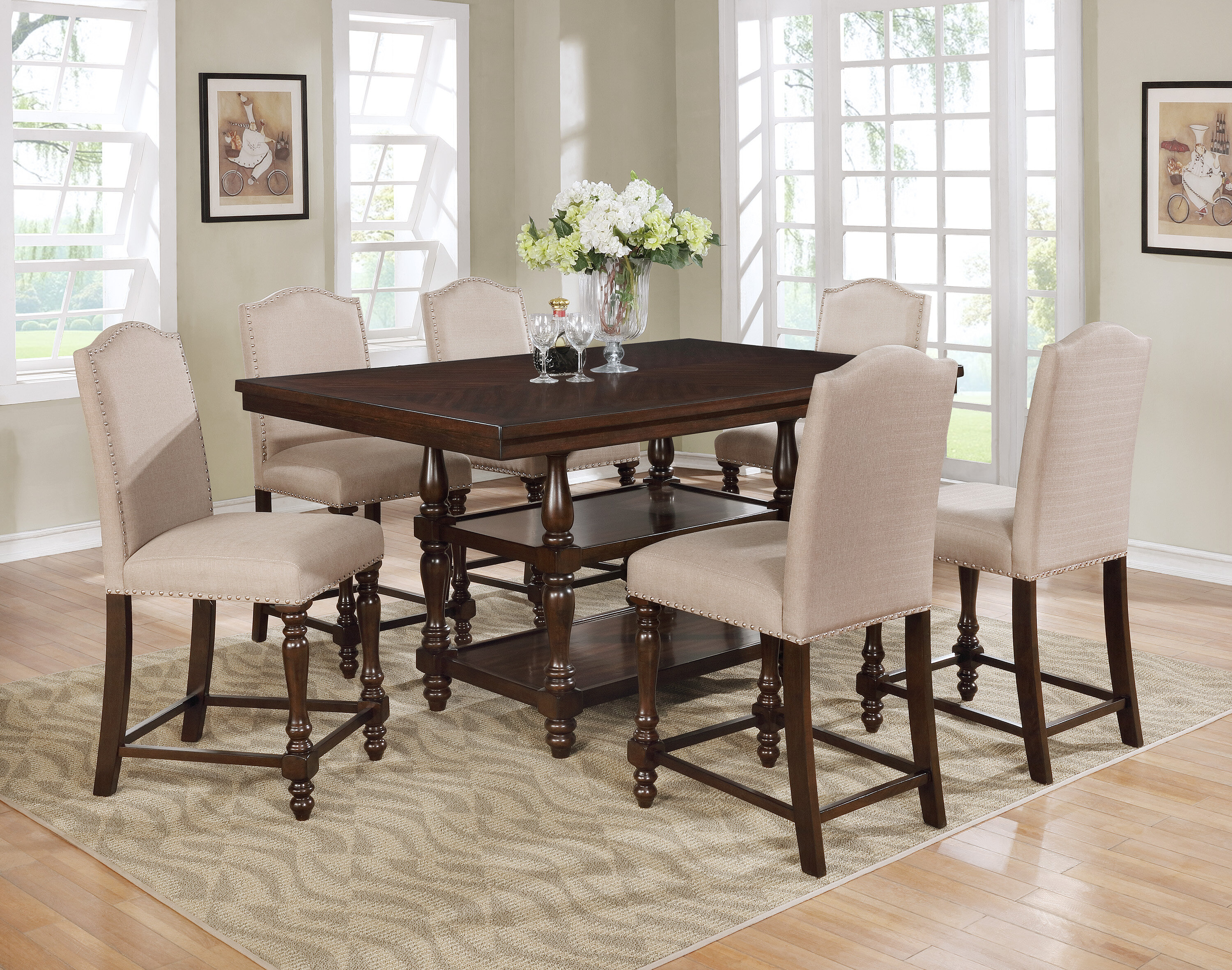 Charlton Home Heady Counter Height Dining Table Reviews Wayfair
