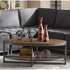 Sheridan Coffee Table with Magazine Rack by INK+IVY
