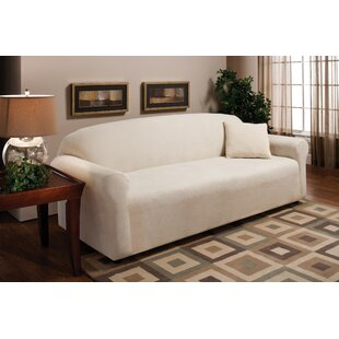 Stretch Microfleece Box Cushion Sofa Slipcover