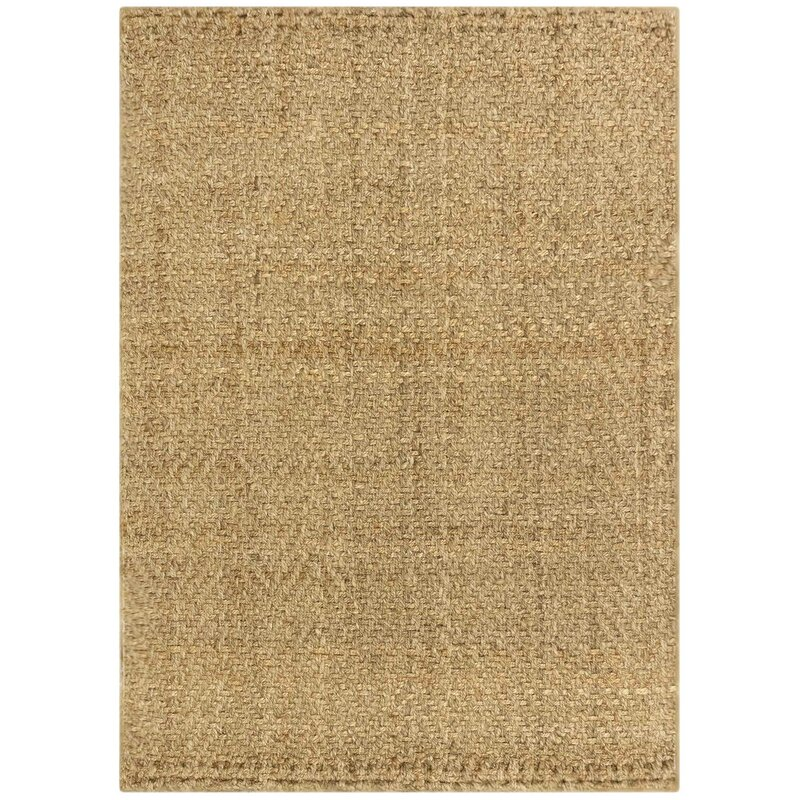 Gracie Oaks Allyssa Checron Hand Knotted Jute Sisal Natural Area Rug Reviews Wayfair