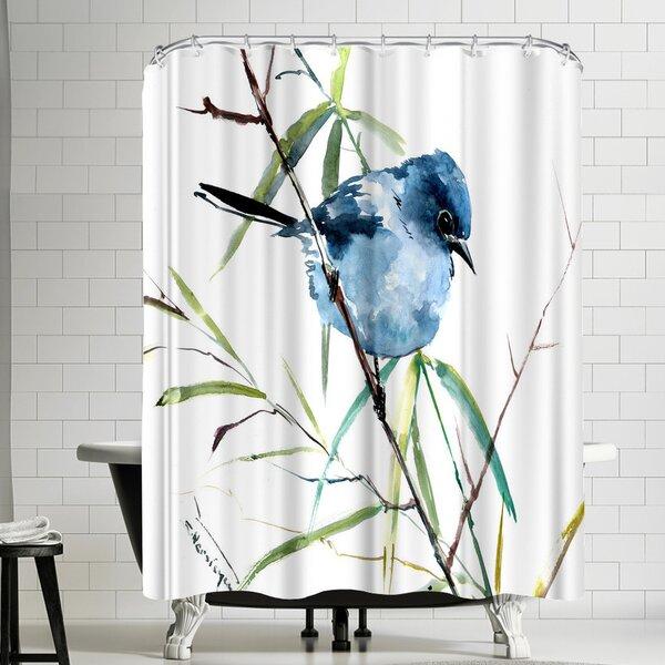 East Urban Home Suren Nersisyan Mountains Bluebird Single Shower Curtain Wayfair