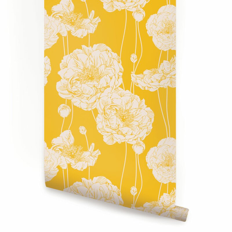 Striplin 24 W Peony Peel And Stick Wallpaper Panel Reviews Joss Main