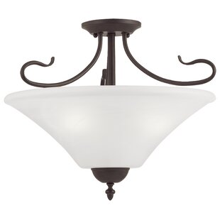 Fleur De Lis Living Adda 3-Light Bowl Pendant