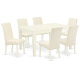 Caneadea 7 Piece Extendable Solid Wood Dining Set by Winston Porter