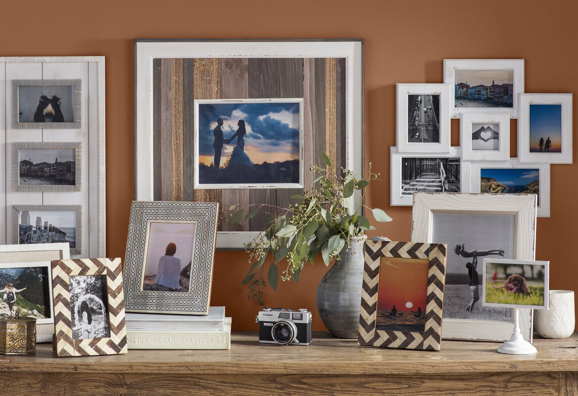Mud pie wood plank picture frame reviews wayfair wood plank picture frame jeuxipadfo Images