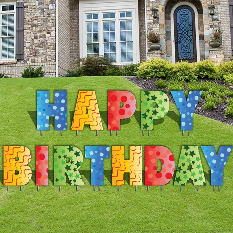 the holiday aisle 13 piece happy birthday letters yard