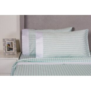 Celeste Stripe 400 Thread Count Cotton Sheet Set