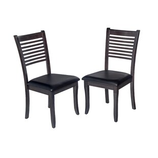 Dinsmore Cottage Solid Wood Dining Chair (Set of 2) Latitude Run