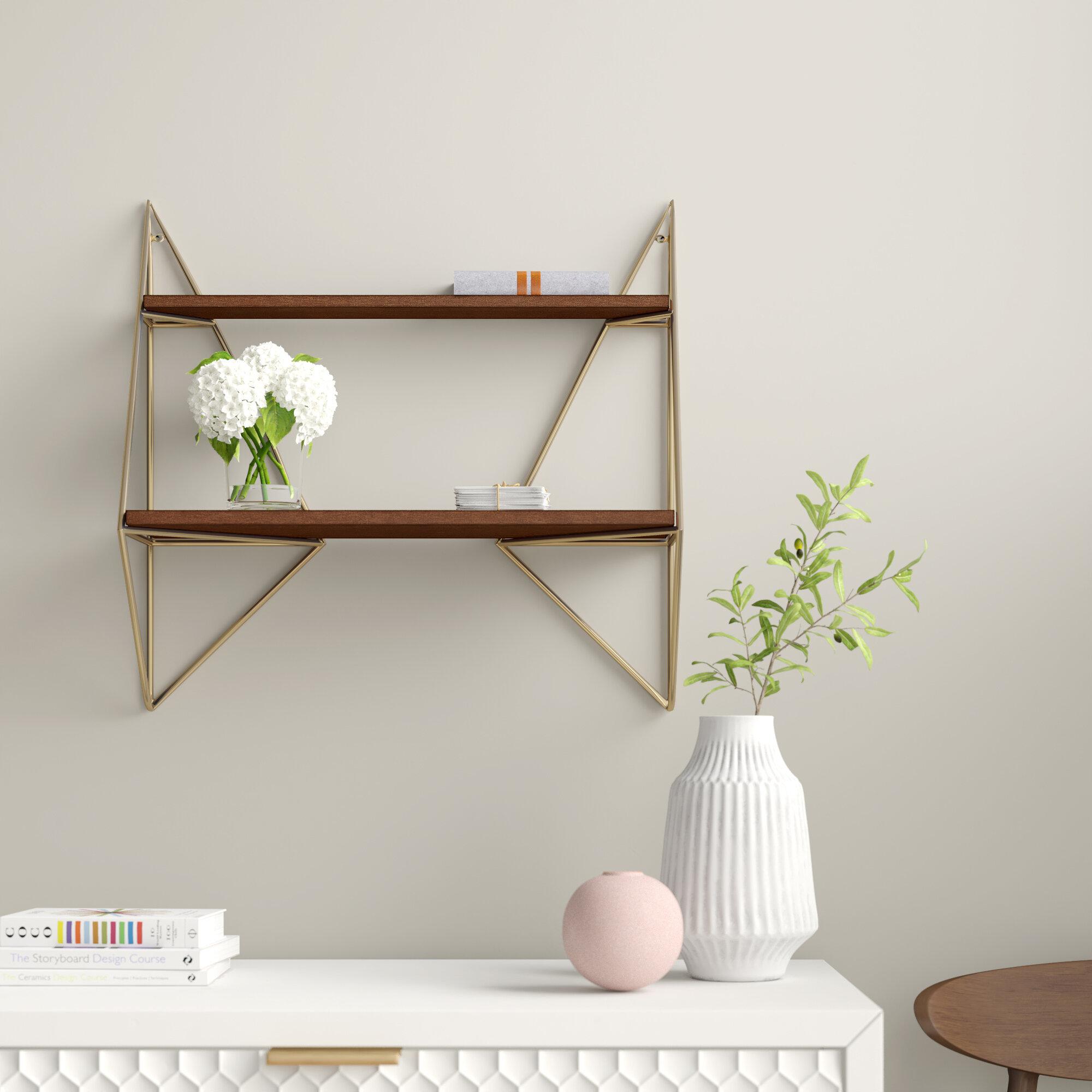 Elsie Decorative Mid Century Modern Wall Shelf
