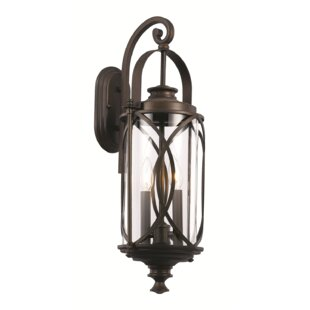 Buy luxury Ginsburg 2-Light Outdoor Wall Lantern By Bungalow Rose