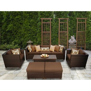 TK Classics Barbados 8 Piece Sofa Set with Cushions