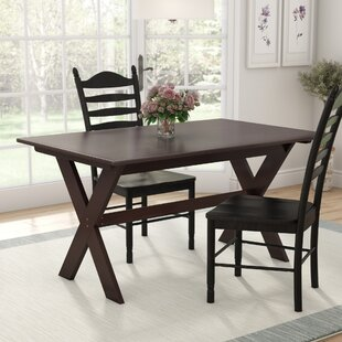 Darby Home Co Georgii Trestle Wood Dining Table