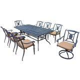 Zonia 9 Piece Dining Set with Cushions