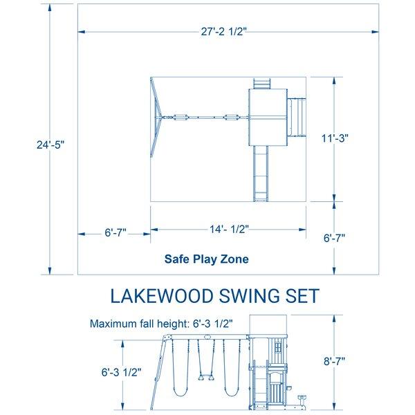 Lakewood All Cedar Swing Set