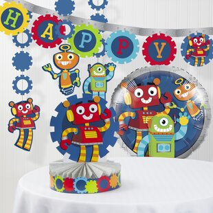 Robot Party Decoration Kit By The Party Aisle