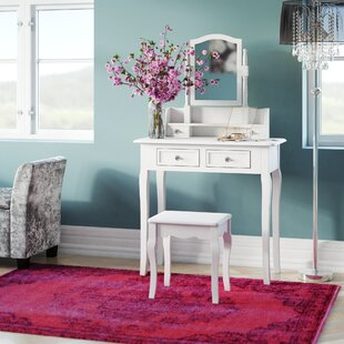 Dressing Table Set With Mirror By Fairmont Park