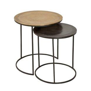 Savings Audrina 2 Piece Nesting Tables by Brayden Studio