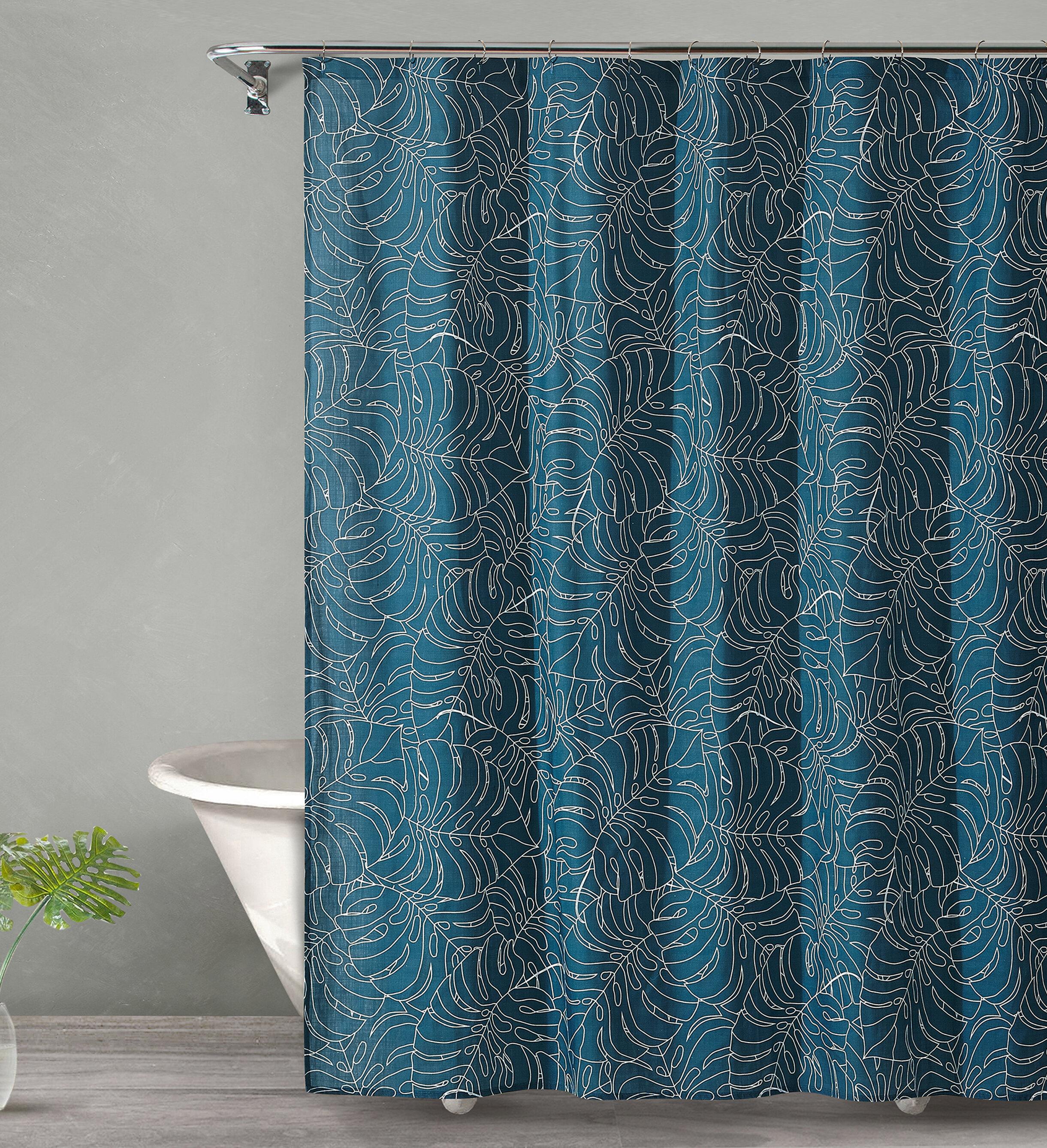 Bay Isle Home Dorrington Tropical Midnight Cotton Shower Curtain ...