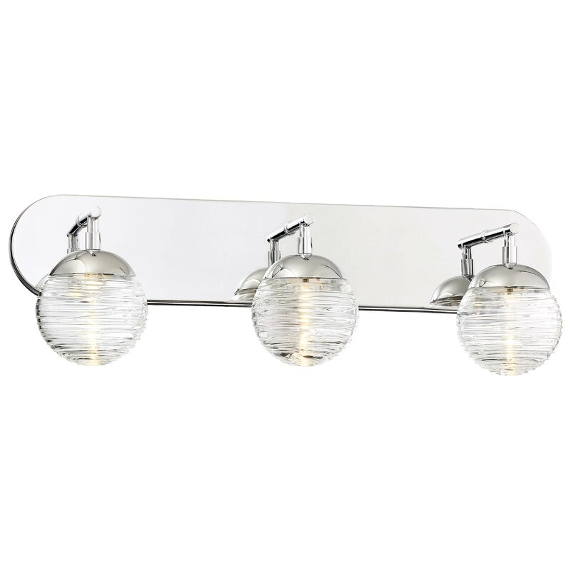 George Kovacs Vemo 3 Light Dimmable Polished Nickel Vanity Light Reviews Wayfair