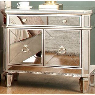 BestMasterFurniture Borghese 1 Drawer Nig..