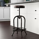 Alkaios Swivel Adjustable Height Bar Stool by Mercury Row
