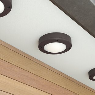 Lensing LED Outdoor Flush Mount by Latitude Run