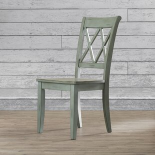 Castle Pines Solid Wood Dining Chair (Set Of 2) by Loon Peak #1